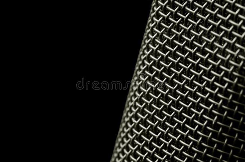 Microphone mesh stock photo