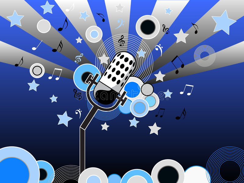 Microphone musical illustration stock