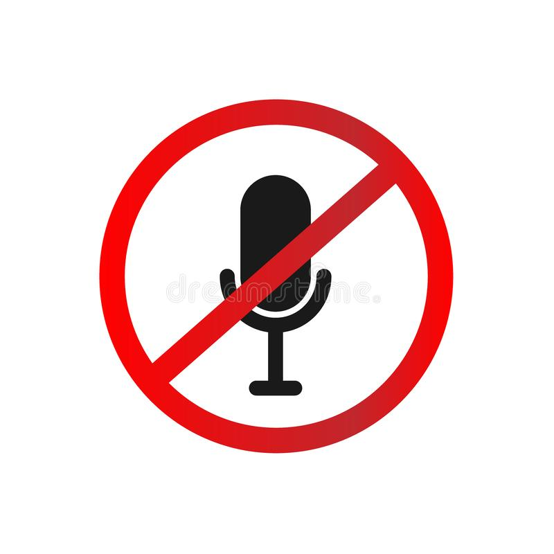 Free Microphone Mute Flat Icon. Simple Sign Of Technology. Vector Illustrated Symbol Stock Photography - 132584832
