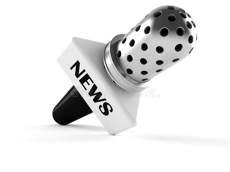 Microphone news. Isolated on white background vector illustration