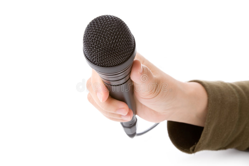 Microphone noir image stock