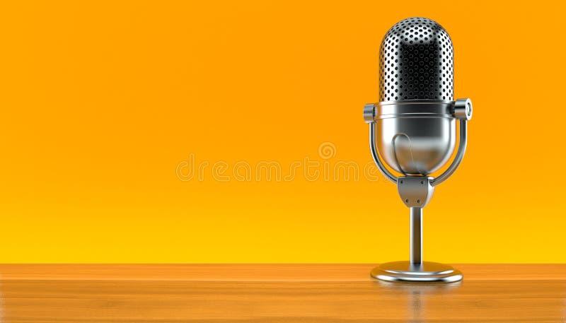 Microphone par radio photographie stock libre de droits