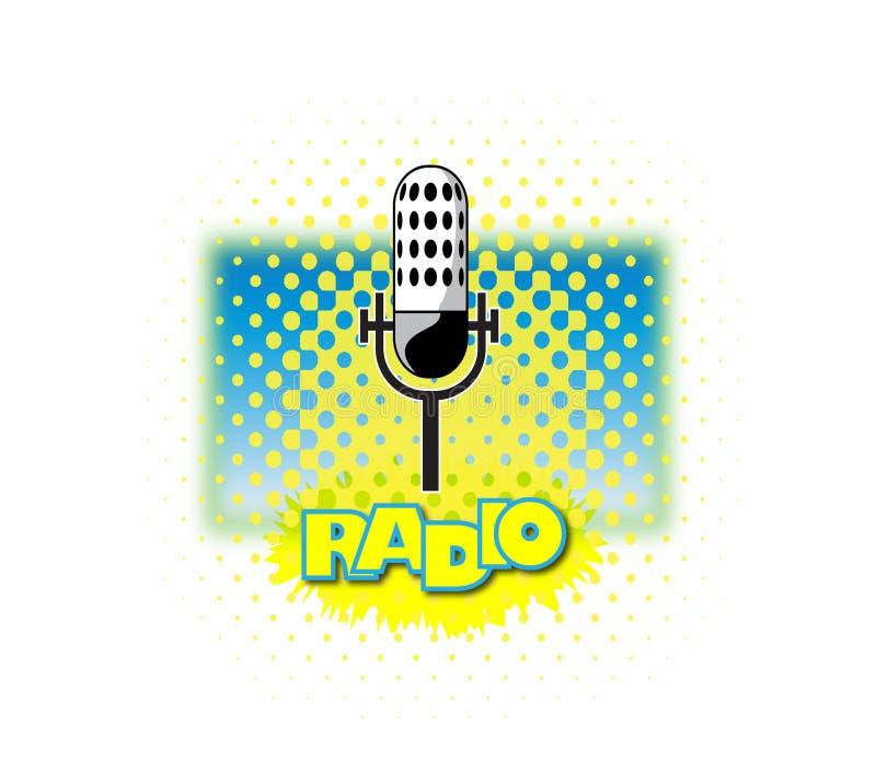 Microphone par radio illustration libre de droits