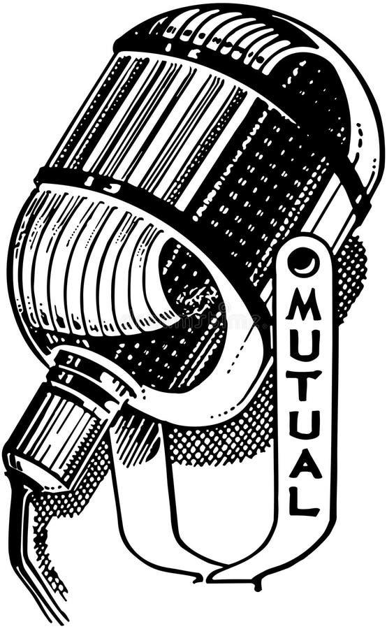 Microphone par radio illustration stock