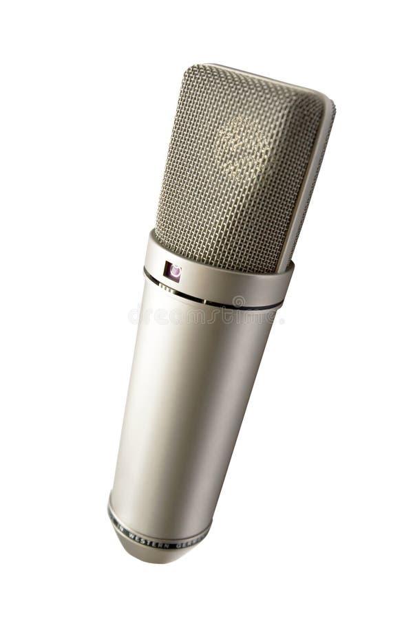 Microphone pour votre voix d'isolement photo stock