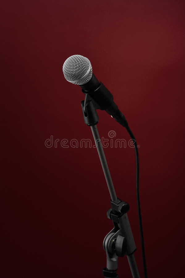 microphone red royaltyfria foton