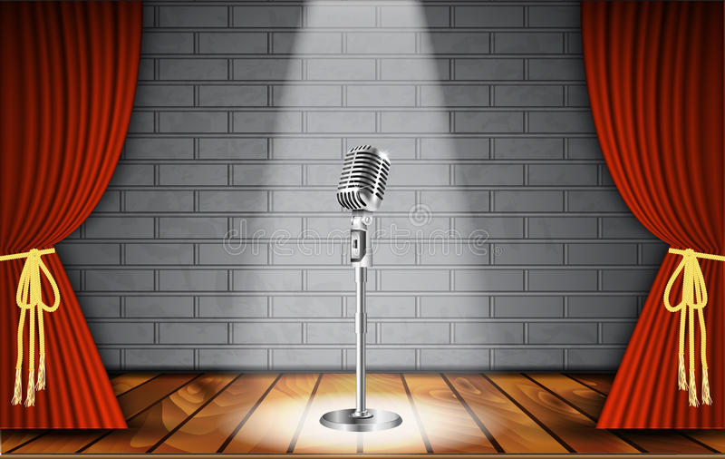 Stand Up Comedy Show Stock Vector Illustration Of