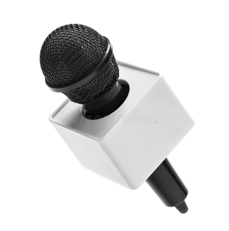 Microphone sans fil noir image libre de droits