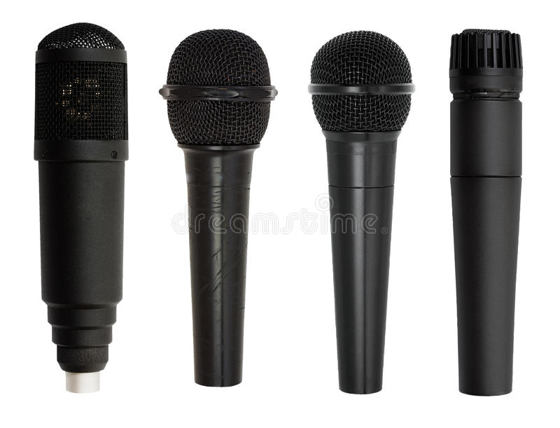 Microphone set isolated stock photography