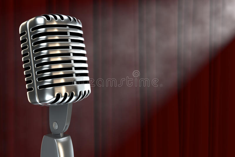 Download Microphone In Smokefilled Room Stock Illustration - Image: 24082036