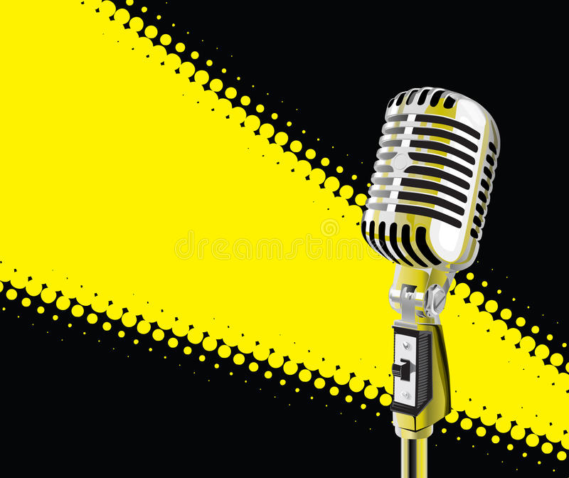 Microphone In Spotlight royalty free stock photography