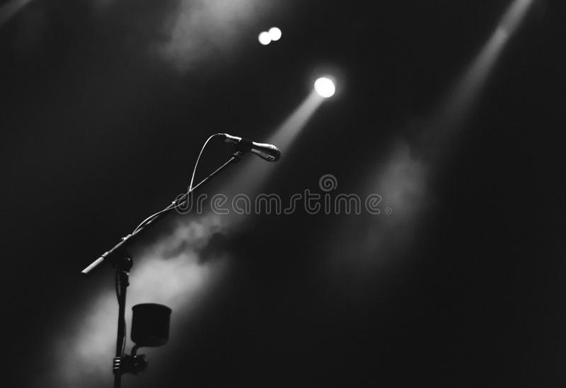 Microphone And Spotlight On Stage Free Public Domain Cc0 Image