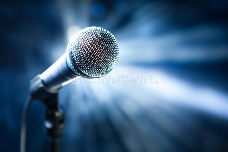 Download Microphone On Stage Stock Photography - Image: 14145752
