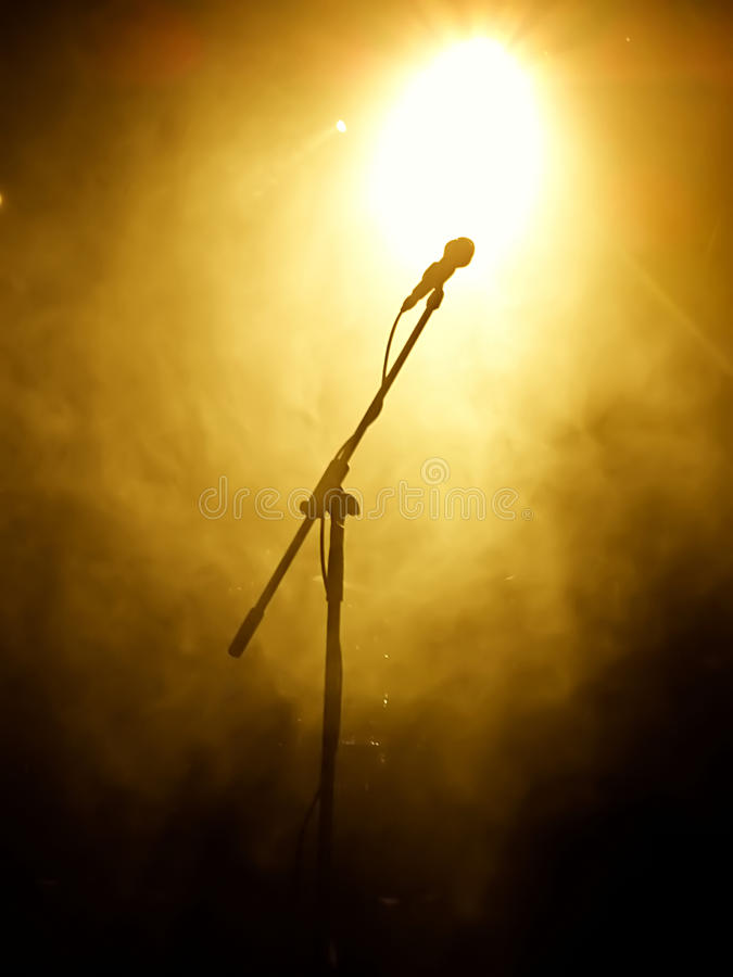 Download Microphone On Stage Stock Photography - Image: 25756592