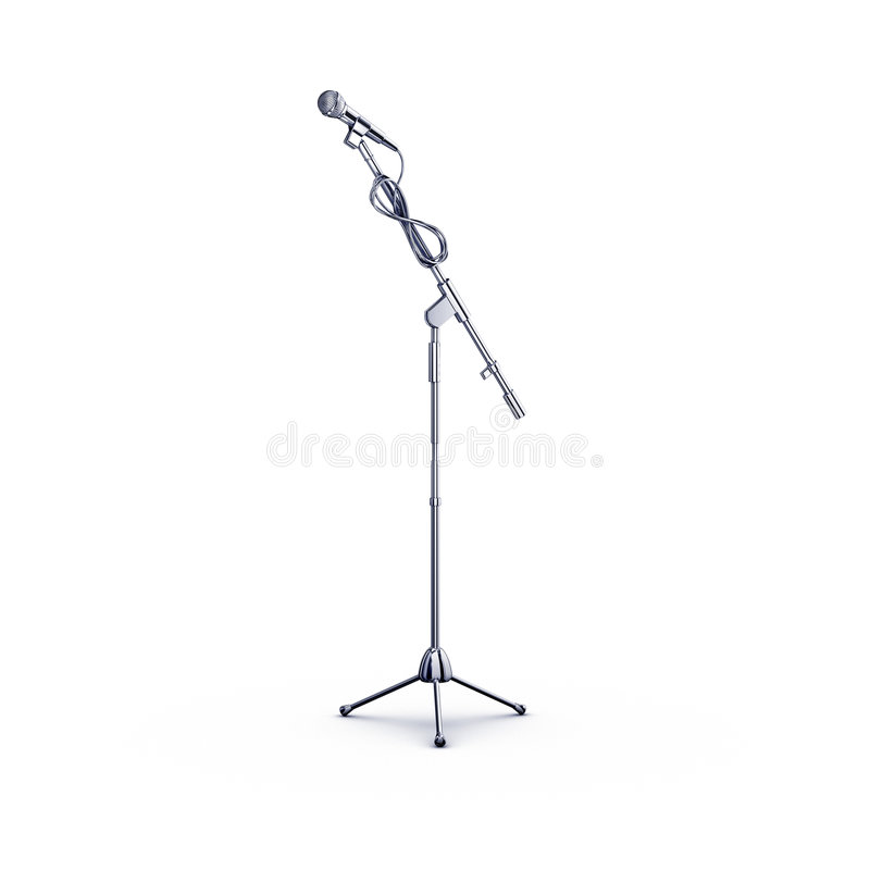 Microphone stand royalty free illustration
