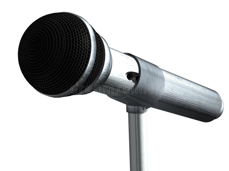 Microphone on stand vector illustration