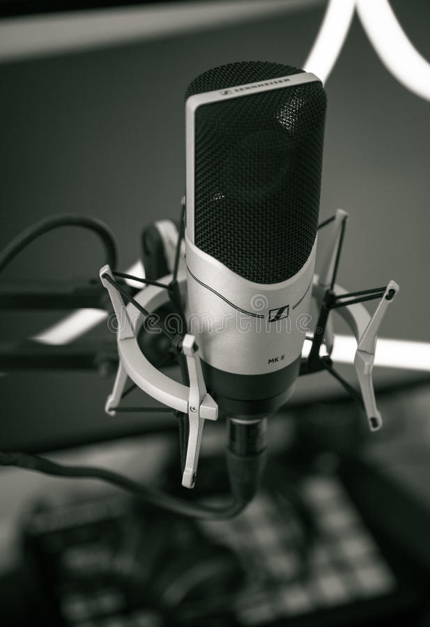 Microphone on stand royalty free stock photos