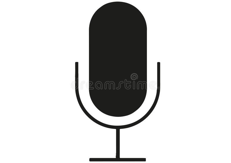 Microphone stock vector. Llustration of a microphone vector format ai stock vector royalty free illustration