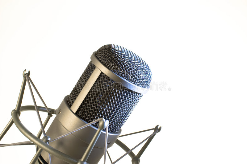 Microphone in studio. royalty free stock photo