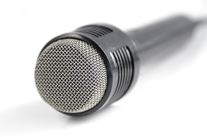 Microphone sur le blanc photo stock