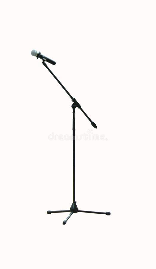 Microphone sur un long support images libres de droits