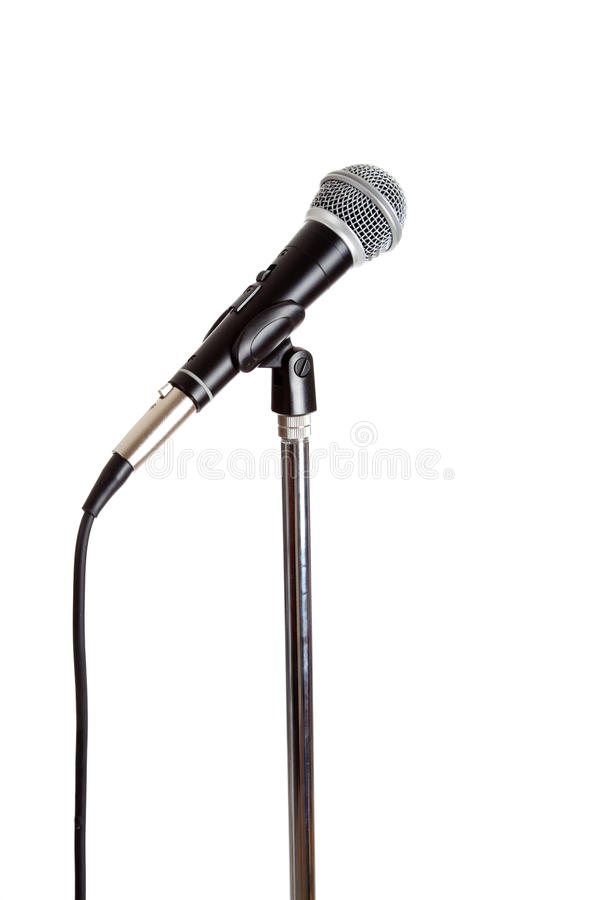 Microphone sur un stand image stock