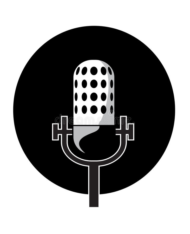Microphone vector illustration royalty free illustration