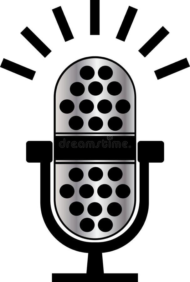 Microphone. Vector illustration of microphone logo vector illustration