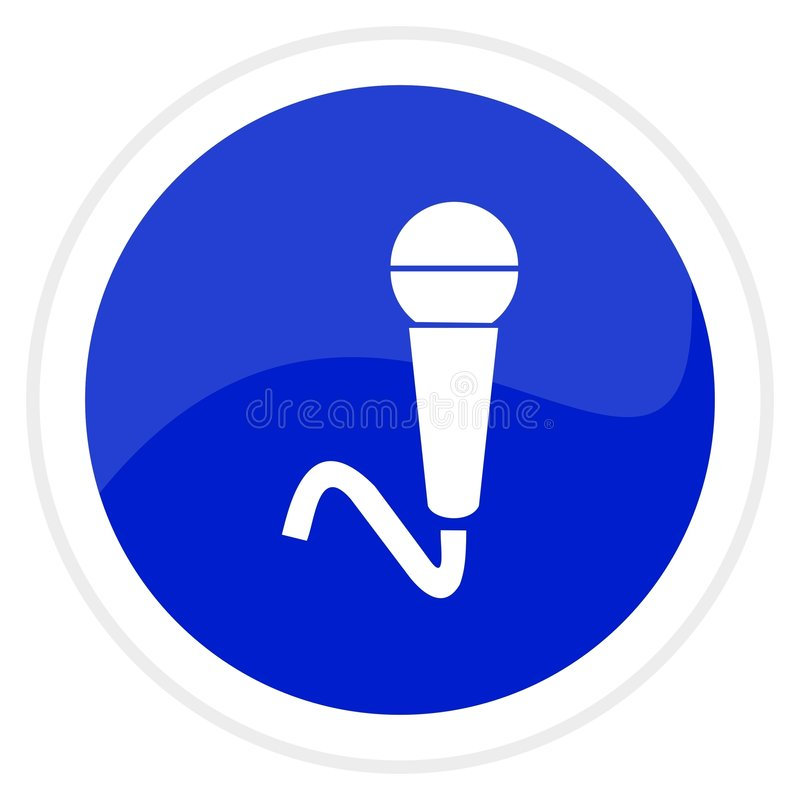 Microphone web button. Computer generated image vector illustration