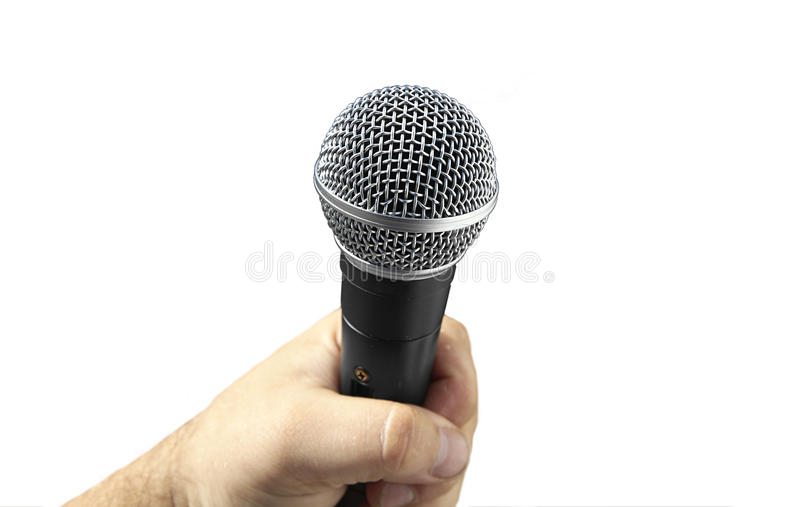 Download Microphone On A White Background Stock Photo - Image: 10511804