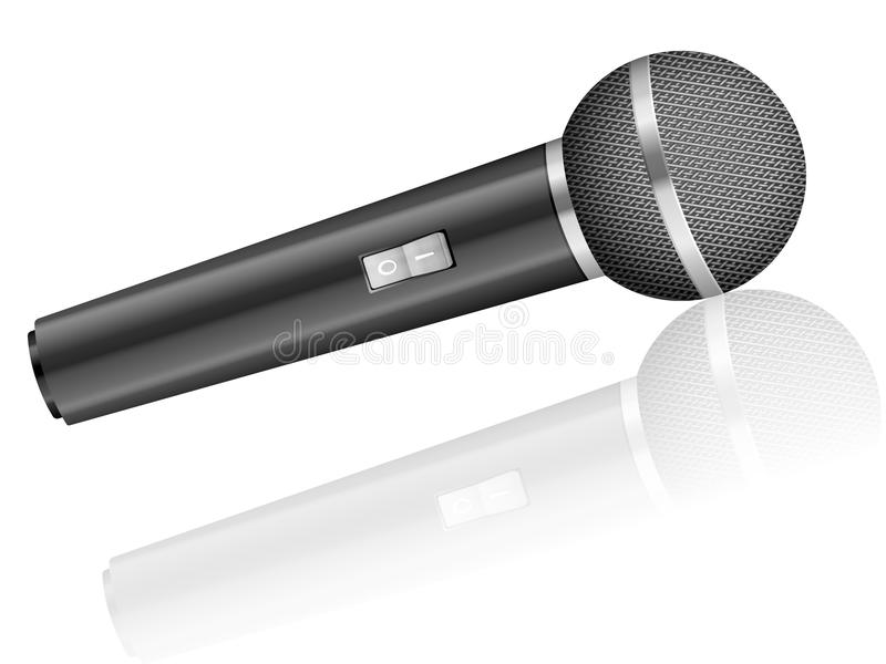 Microphone. On a white background royalty free illustration