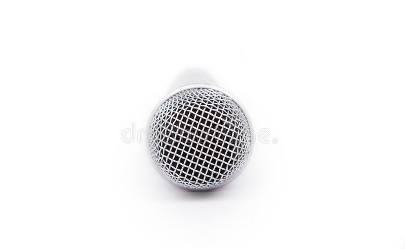 Microphone on white. royalty free stock photography