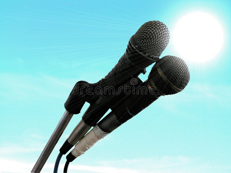 Download Microphones stock photo. Image of song, vocalist, sound - 18318