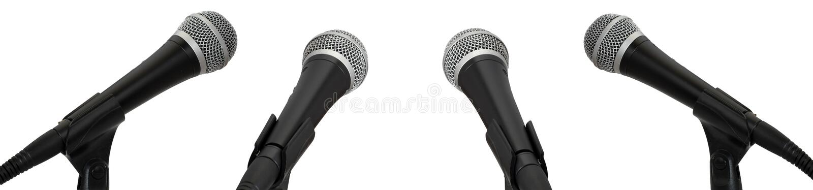 Download Microphones stock image. Image of conference, entertainment - 4213533