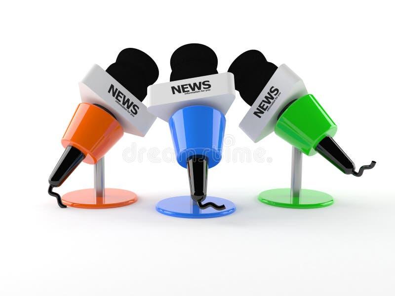 Microphones d'entrevue illustration stock