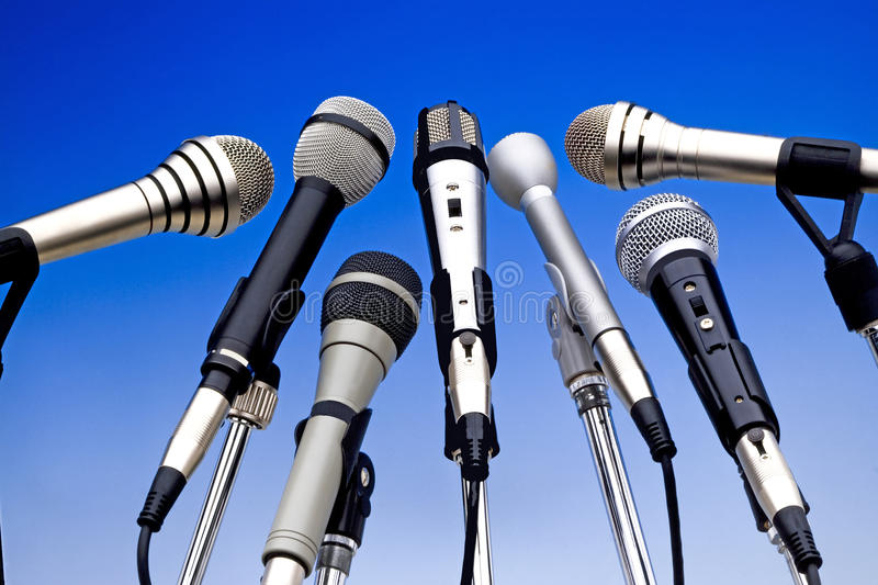 Microphones royalty free stock photos