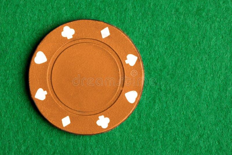 Microplaqueta alaranjada do póquer imagens de stock