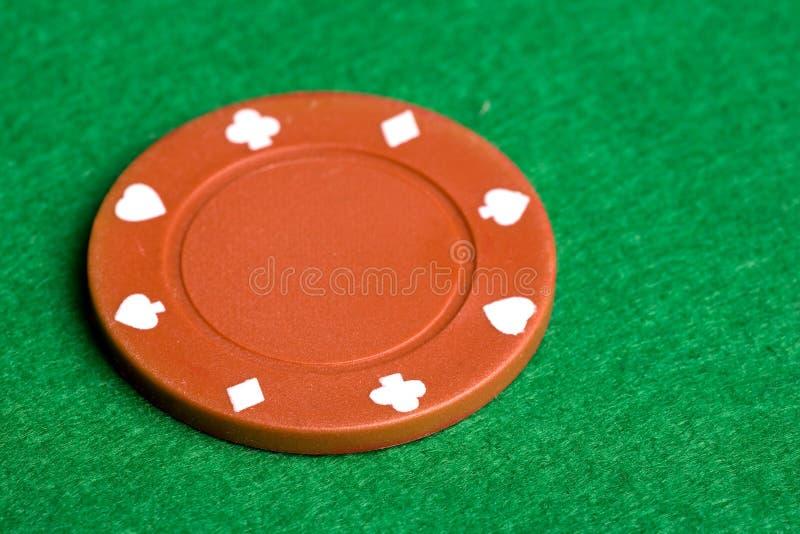Microplaqueta alaranjada do póquer imagem de stock