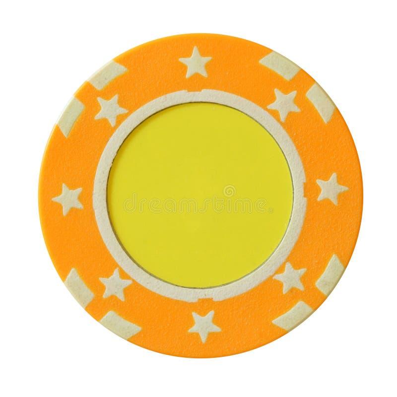 Microplaqueta amarela do casino fotos de stock royalty free