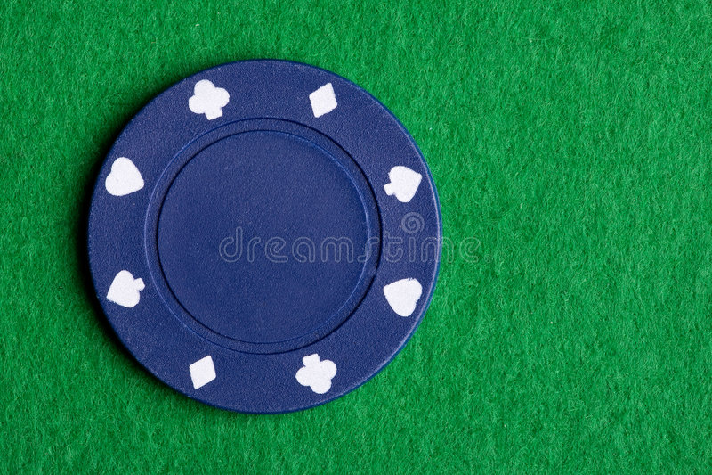 Microplaqueta azul do póquer fotografia de stock royalty free
