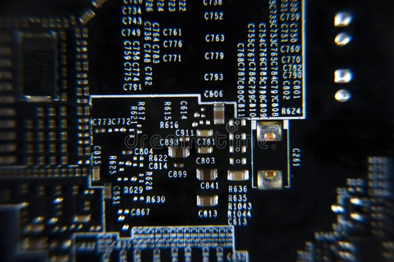microplaqueta foto de stock