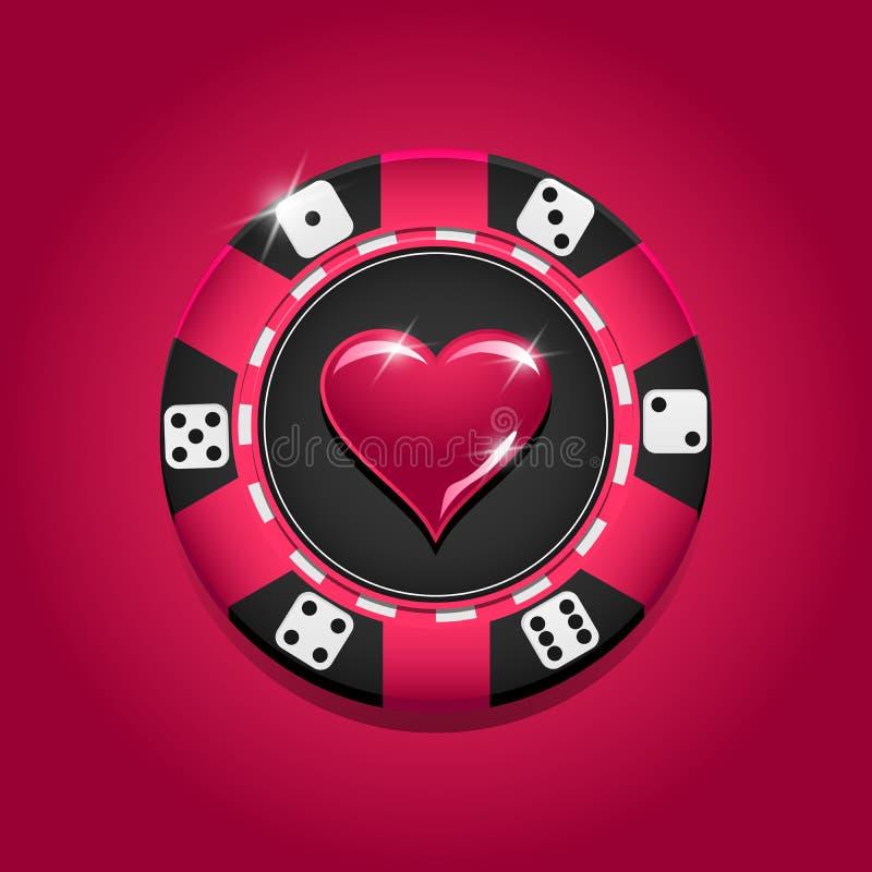 Microplaqueta colorida do casino do vetor gambling ilustração do vetor