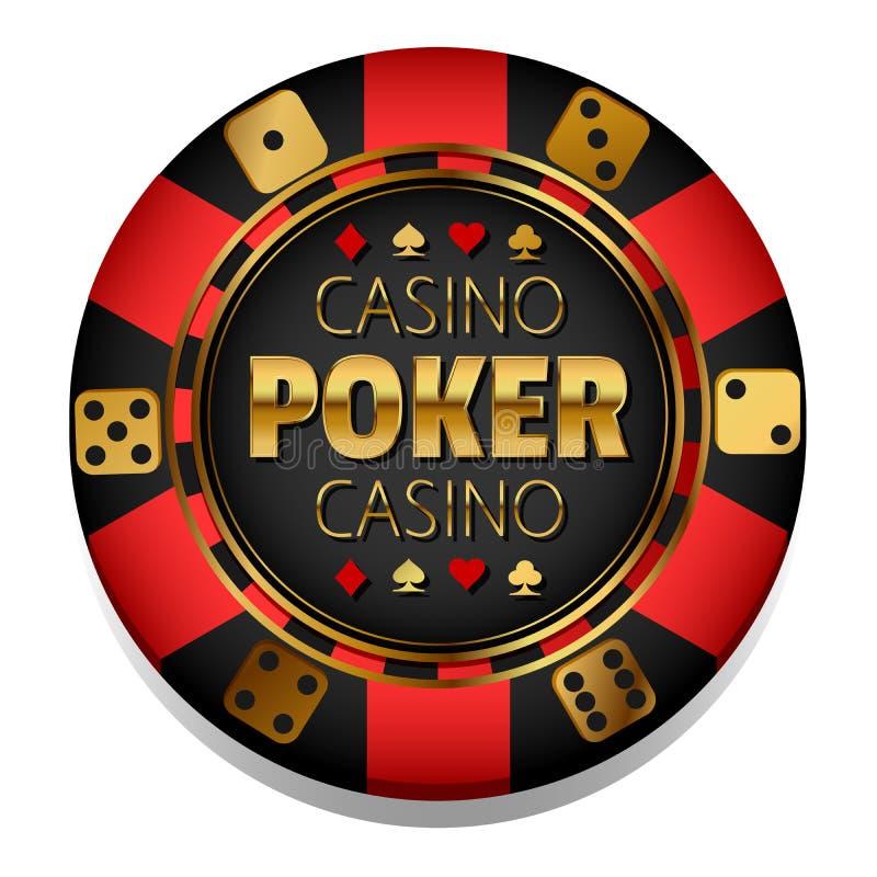 Microplaqueta colorida do casino do vetor gambling ilustração royalty free