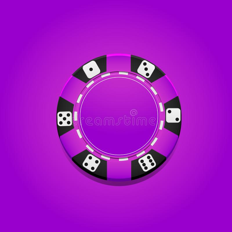 Microplaqueta colorida do casino do vetor gambling ilustração stock