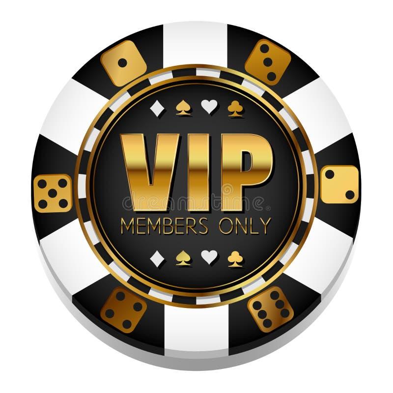 Microplaqueta colorida do casino do vetor do VIp gambling ilustração do vetor