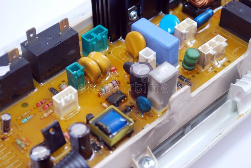 Microplaqueta da caixa de controle da máquina de lavar fotos de stock royalty free
