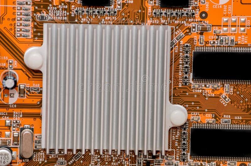 Microplaqueta da peça do computador da eletrônica fotografia de stock