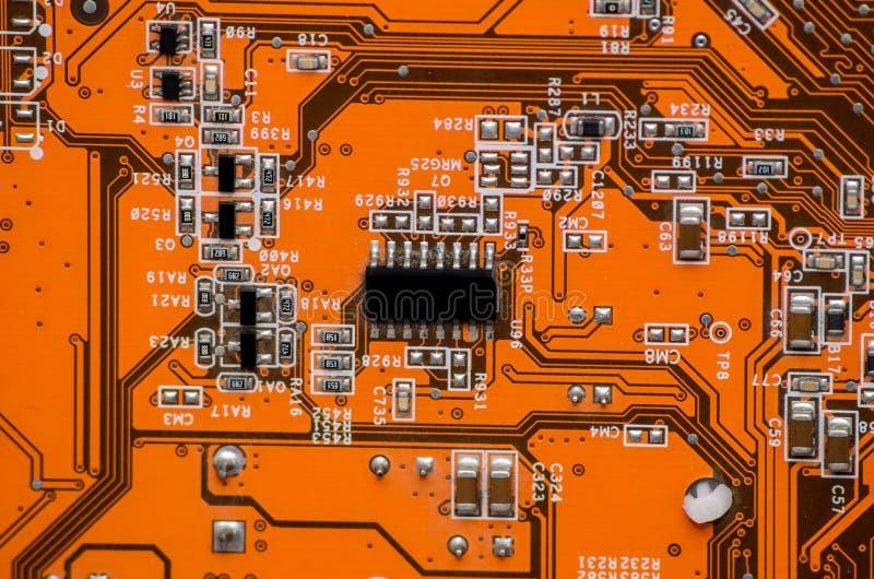 Microplaqueta da peça do computador da eletrônica foto de stock royalty free