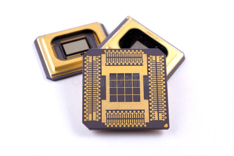 Microplaqueta de circuito imagens de stock