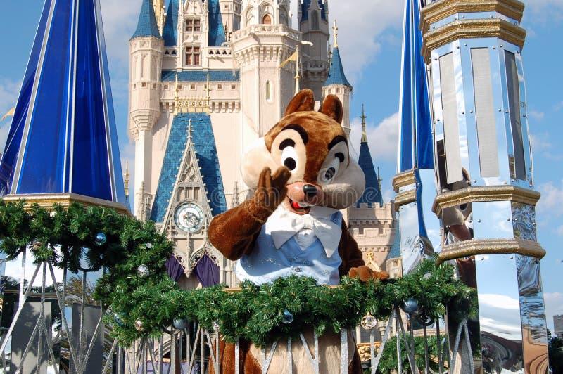 Microplaqueta de Disney durante uma parada imagens de stock royalty free